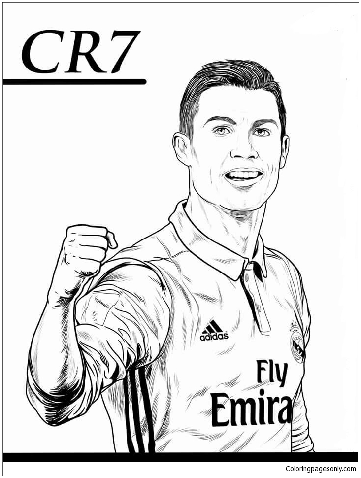 Ronaldo cartoon coloring pages - Coloriage de cristiano ronaldo ...
