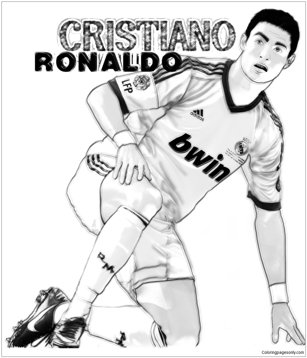 Cristiano Ronaldo-image 6 Coloring Pages - Soccer Players ...