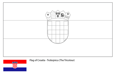 Flag of Croatia-World Cup 2018