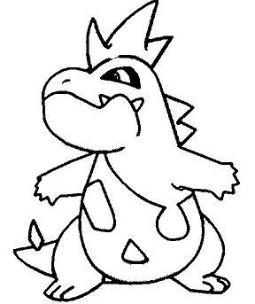 Croconaw Pokemon Coloring Page