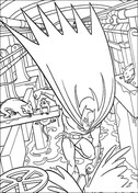 Batman down in sewage from Batman Coloring Page