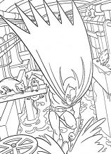 Cross The Space Underneath Coloring Page