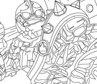 Crucher Skylanders Coloring Page