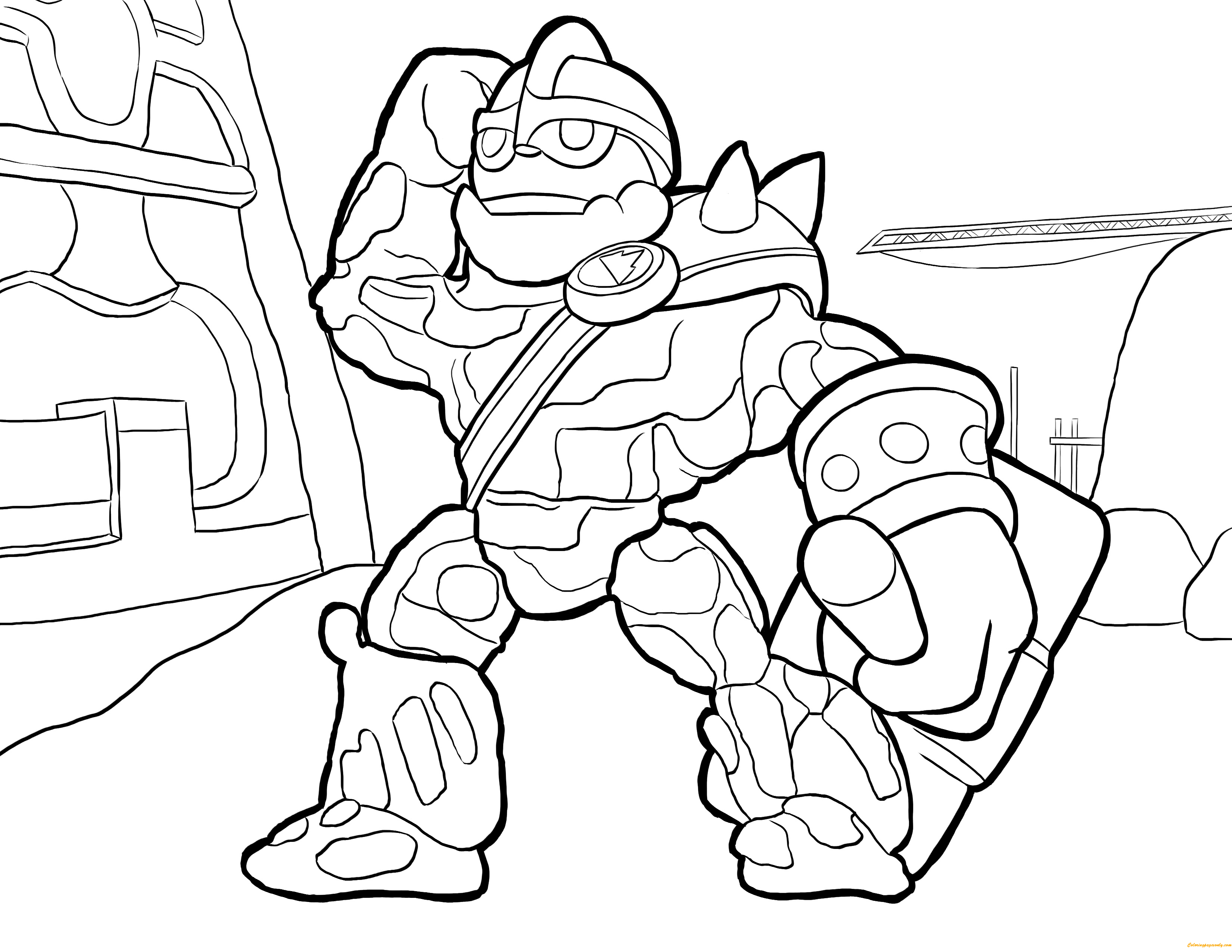 skylander coloring pages free - crusher skylanders coloring page free coloring pages online