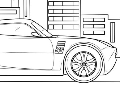 Cruz Ramirez From Cars 3 Disney  Coloring Page