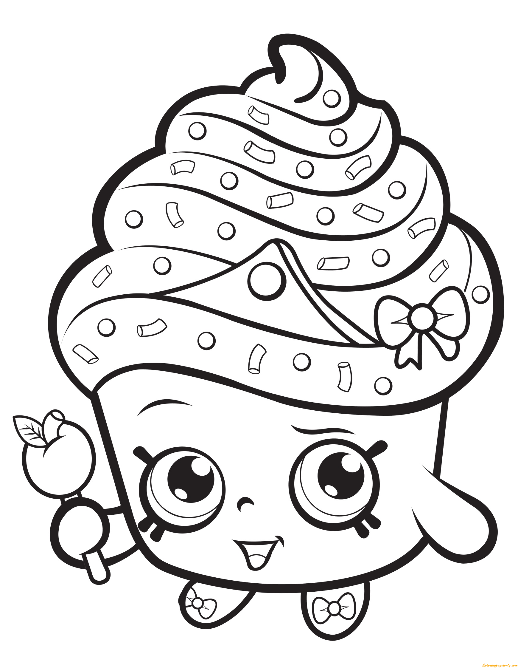 Cupcake Queen Shopkin Season 1 Coloring Page - Free ...