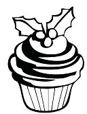 Cupcakes 1 Coloring Page