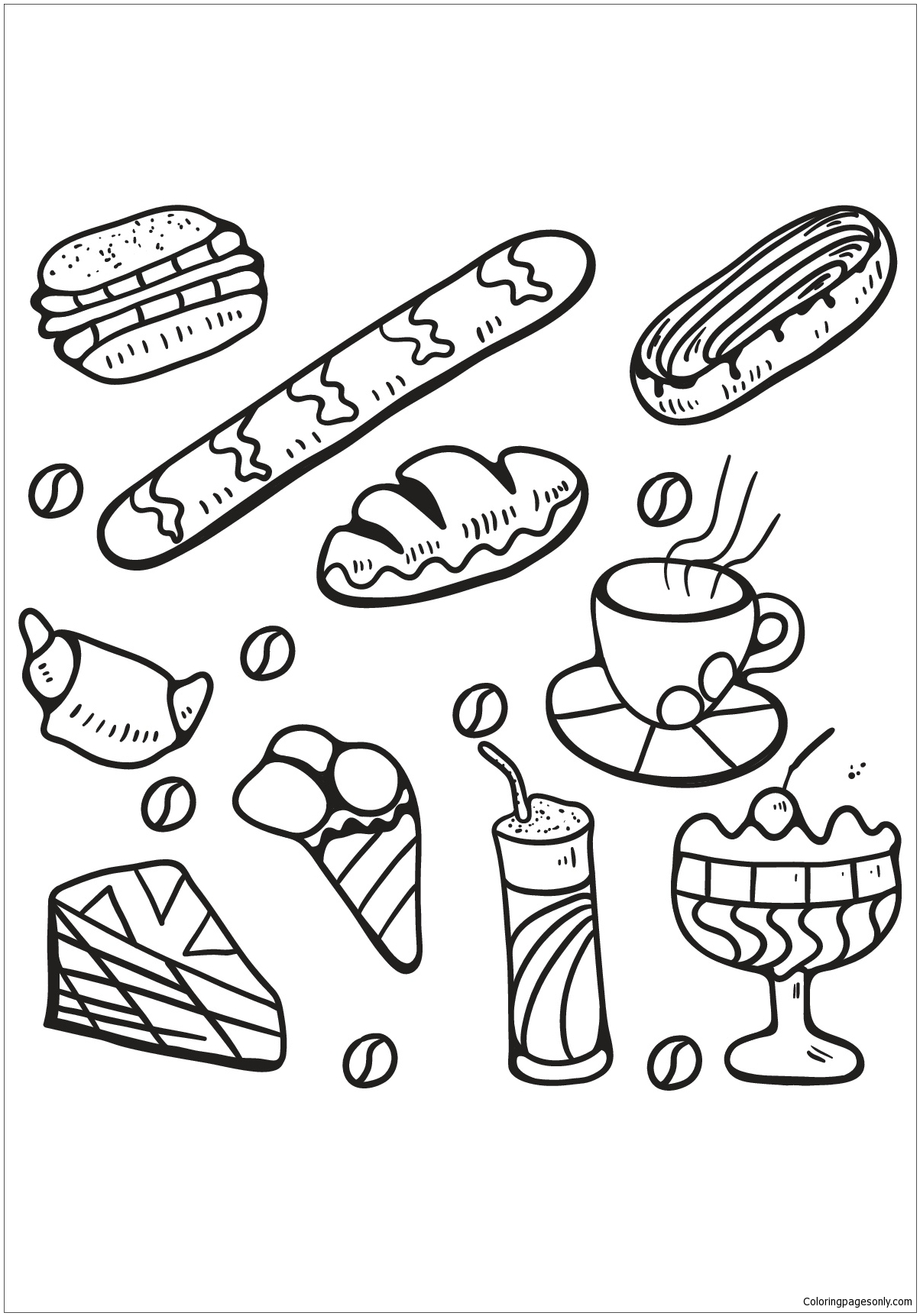 Cupcakes And Cakes 1 Coloring Pages