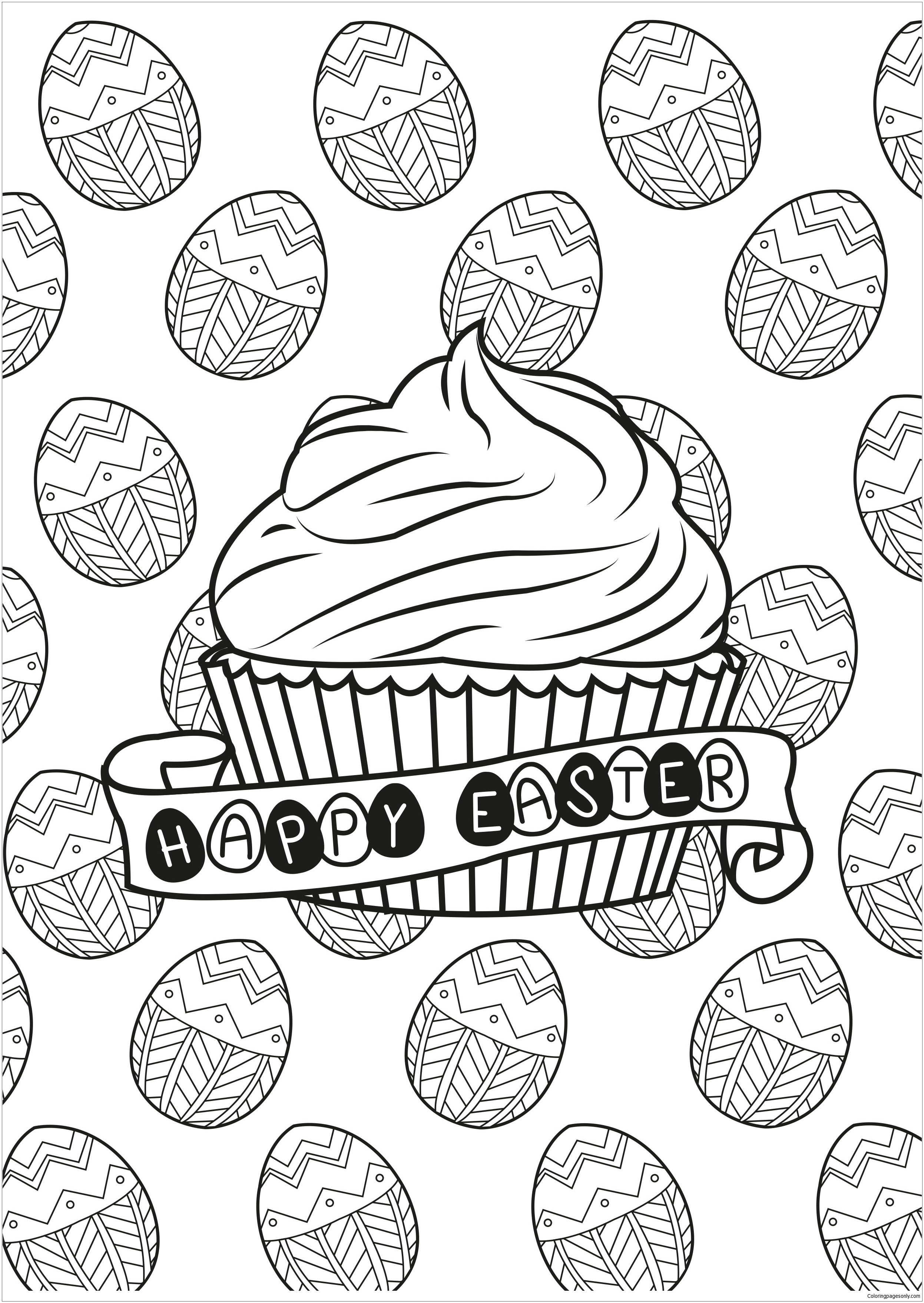 Cupcakes And Cakes Coloring Page Free Coloring Pages Online
