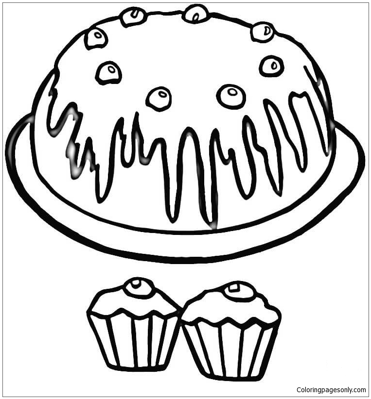 Cupcakes Coloring Page Free Coloring Pages Online