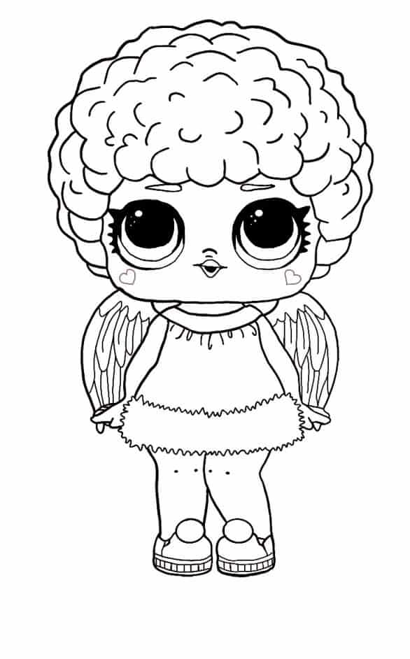 Lol Suprise Doll Curly Hair with Wings