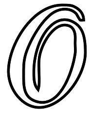 Cursive Alphabet Letter O