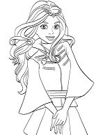 Cute  Evie Coloring Page