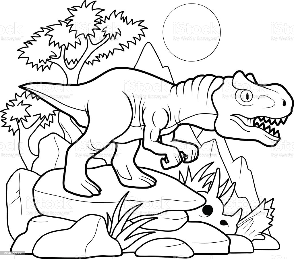 Cute Allosaurus Coloring Page