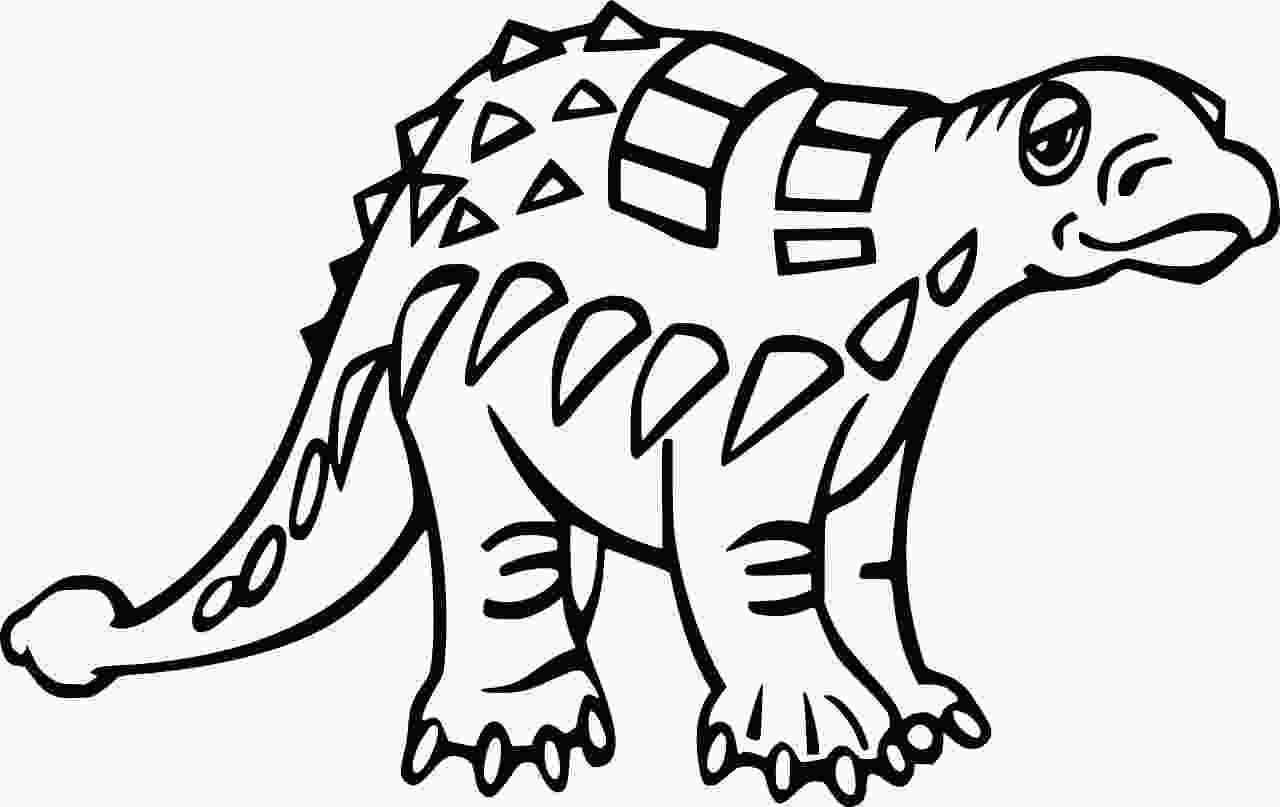 Cute Ankylosaurus Dinosaur Coloring Page