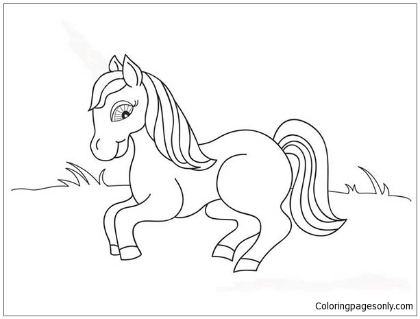 Cute Baby Horse Coloring Page Free Coloring Pages Online