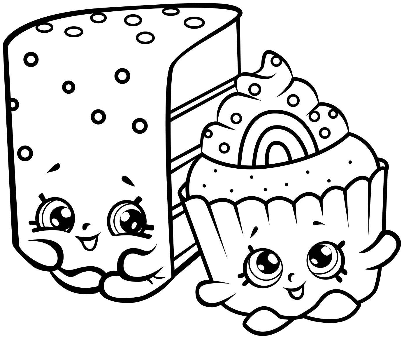 Cute Cakes Shopkins Coloring Page