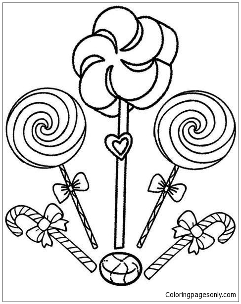 Cute Candy Shopkins Coloring Page
