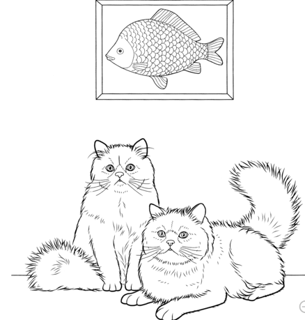 Cute Cats coloring page
