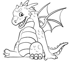 Cute Dragon 1 Coloring Page