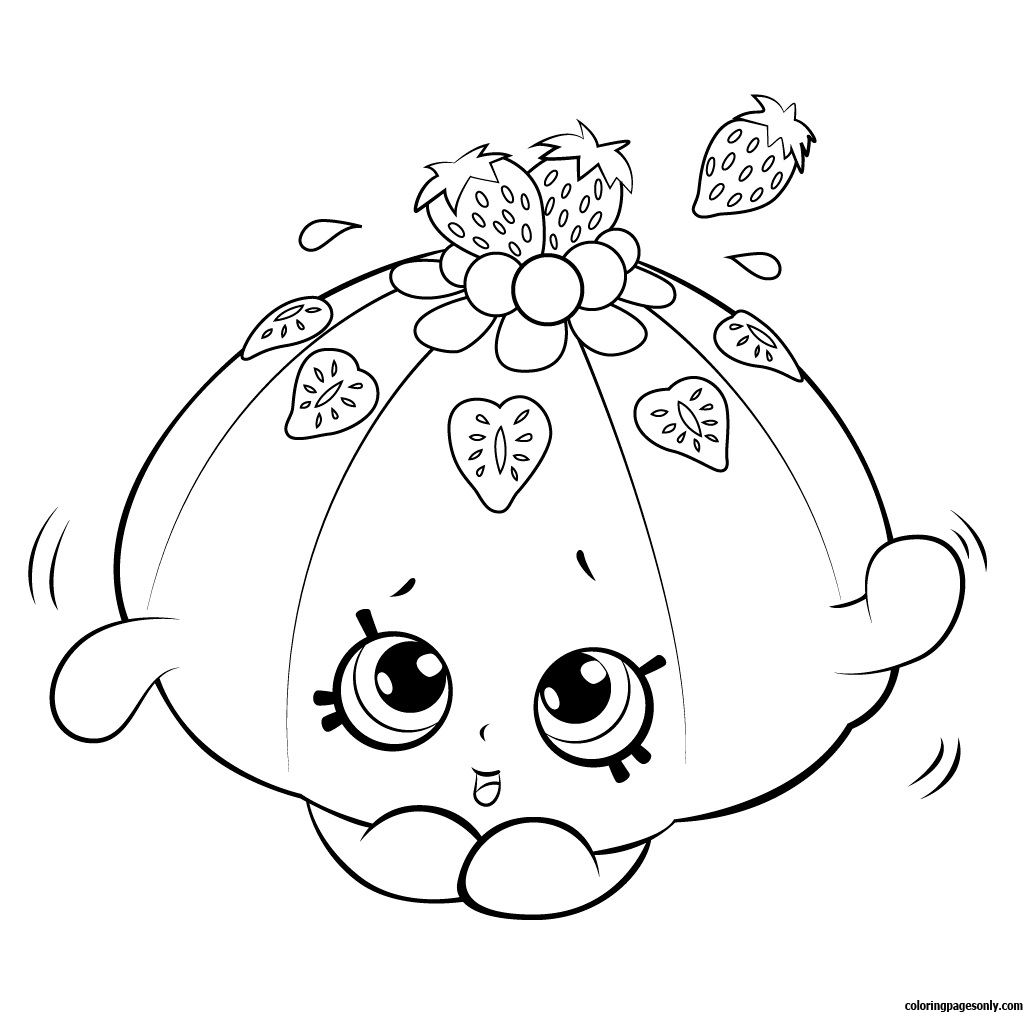 Cute Fruit Jello Shopkin Season 5 Coloring Page