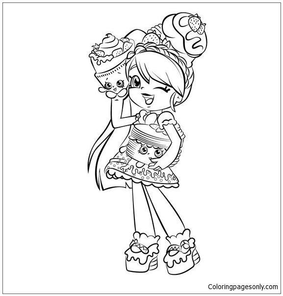 Cute Girl Shopkins Shoppies Coloring Pages - Toys And Dolls Coloring Pages  - Free Printable Coloring Pages Online