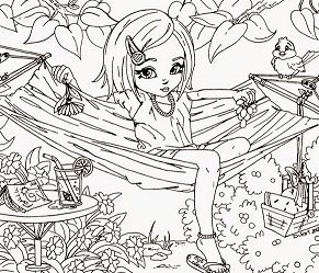 Cute Hard Coloring Page