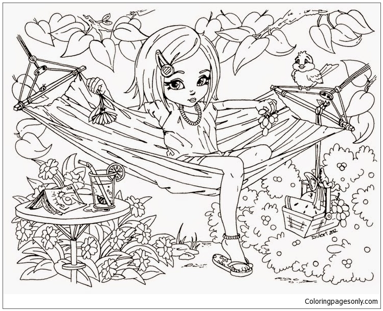 Cute Hard Coloring Page - Free Coloring Pages Online