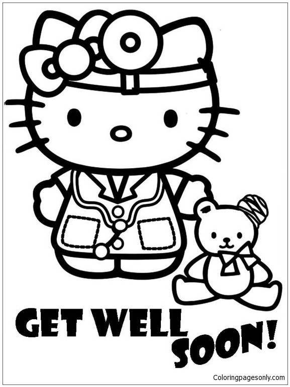 Cute Hello Doctor Coloring Page Free Coloring Pages Online