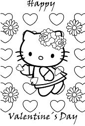 Cute Hello Kitty Happy Valentines Day