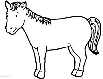 Cute Horse 1 Coloring Page