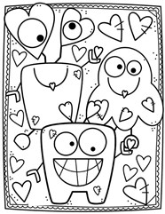 Cute Image Glasses Coloring Page