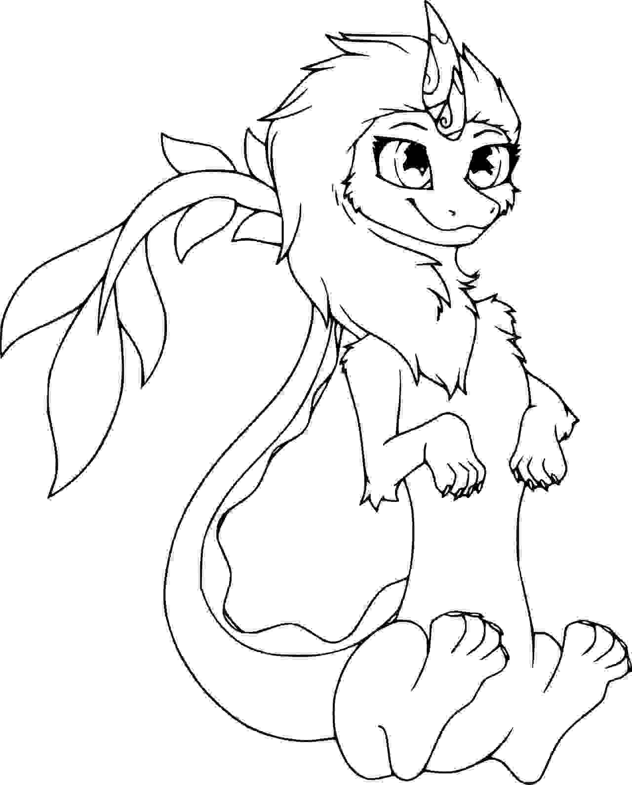 Cute Last Dragon Sisu Coloring Page