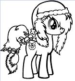 Cute Little Pony Coloring Page