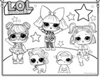 Cute Lol Surprise Doll Coloring Page