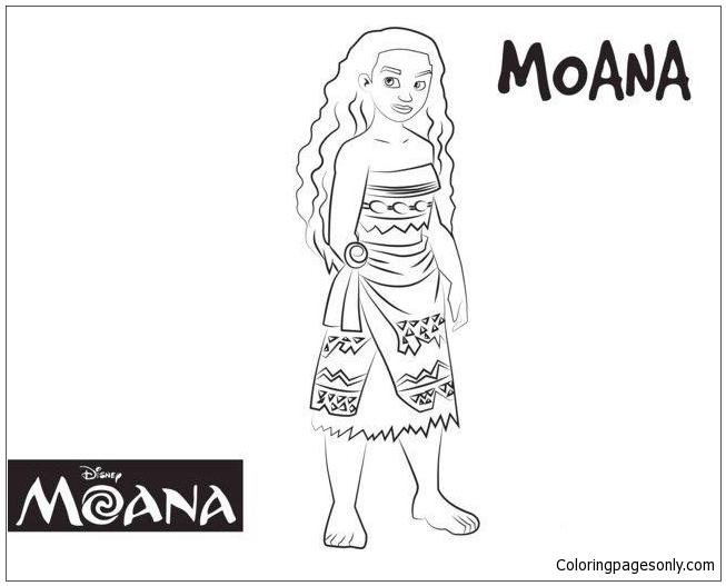 Cute Moana Disney Coloring Page