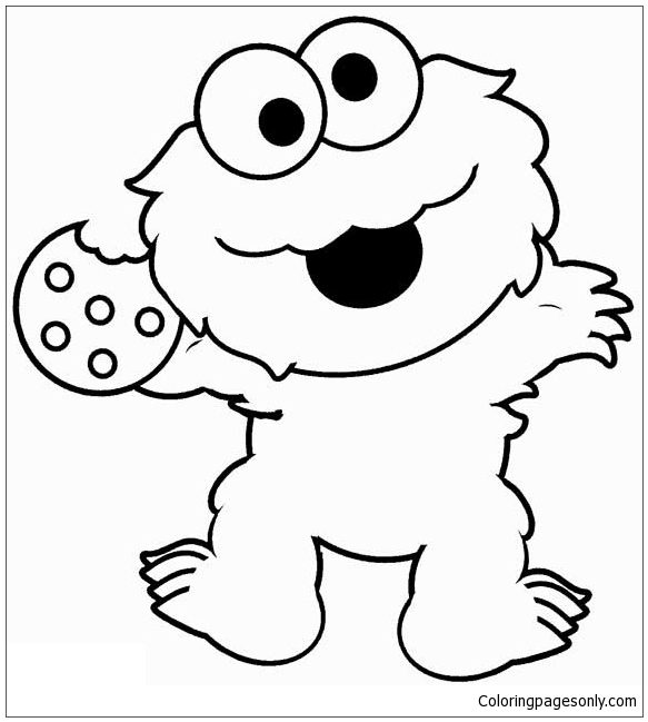 Cute Monster Coloring Page - Free Coloring Pages Online