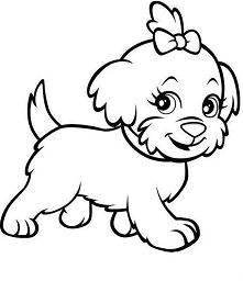 Cute Puppy 1 Coloring Page