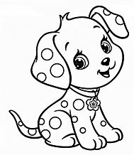 Cute Puppy 5 Coloring Page
