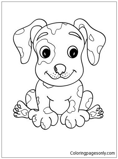 Cute Puppy 7 Coloring Page