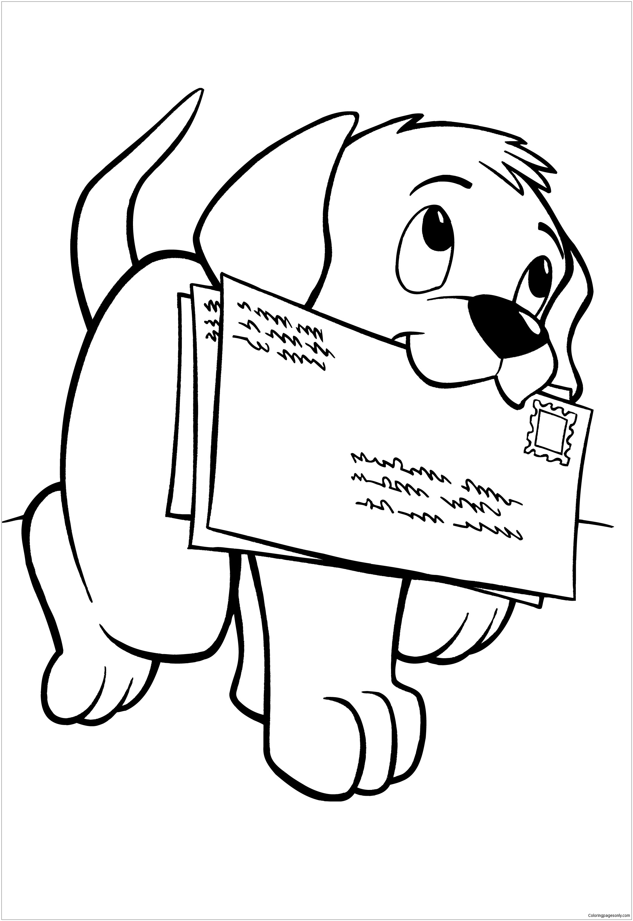 Cute Puppy 8 Coloring Page Free