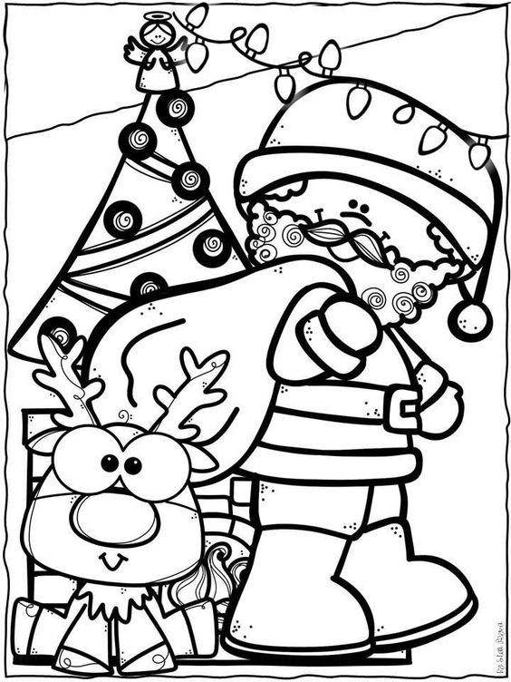 Cute Santa Claus Coloring Page