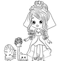 Cute Shopkins Bride