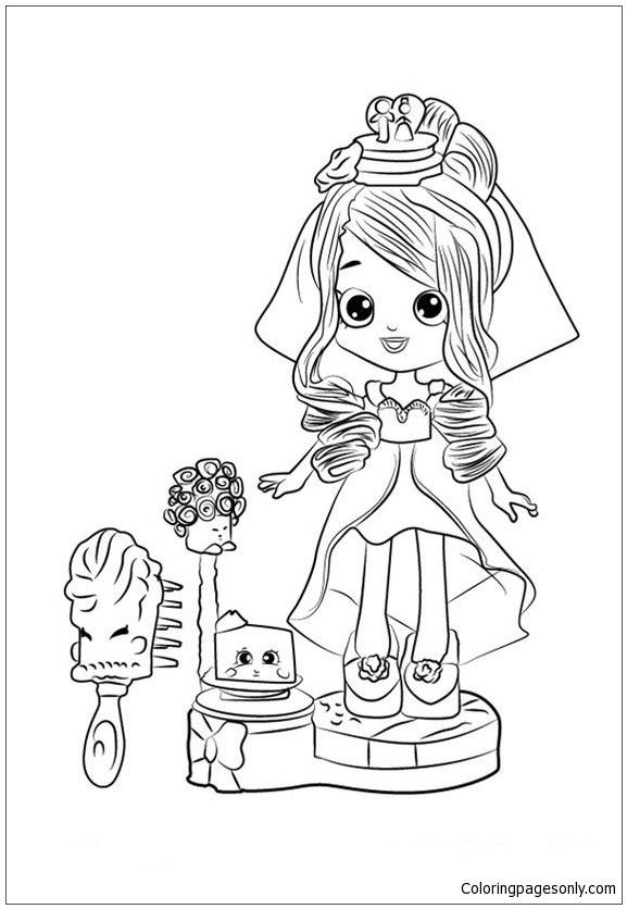 Cute Shopkins Bride Coloring Page