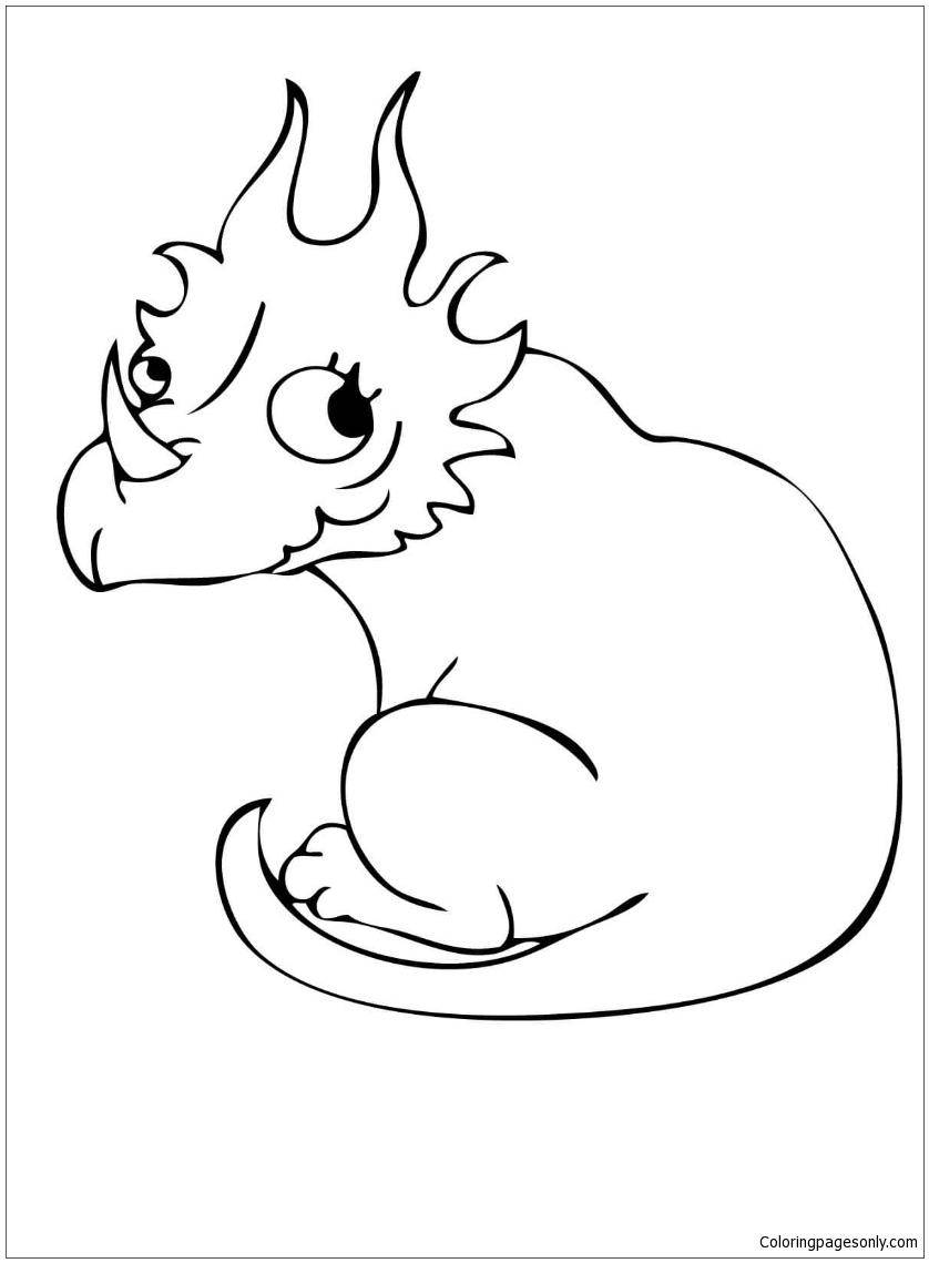 Cute Styracosaurus Dino Coloring Page