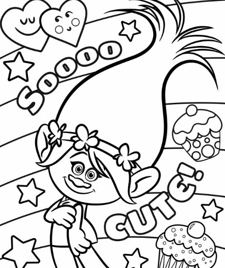 cute trolls - Trolls Coloring Pages