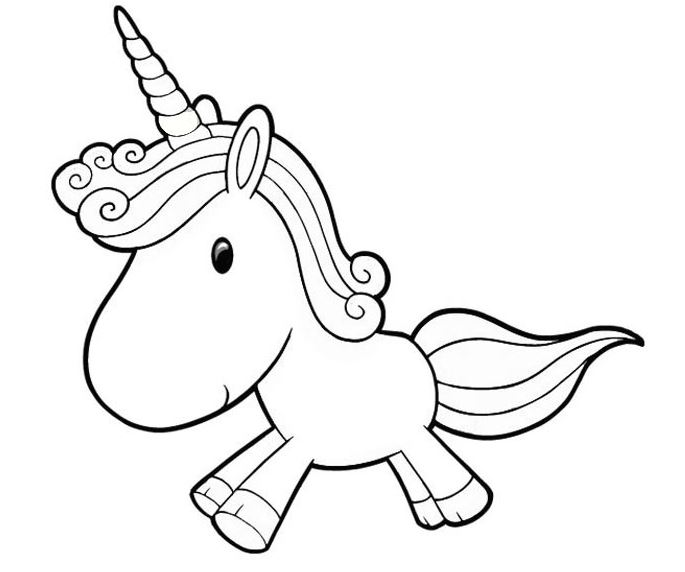 Cute Unicorn-image 3 Coloring Page