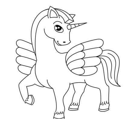 Cute Winged Unicorn