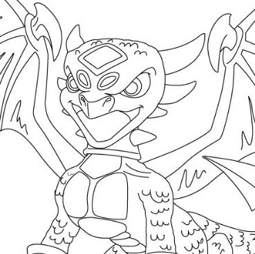 Cynder From Skylanders Coloring Page
