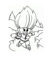 Dam Troll  Coloring Page